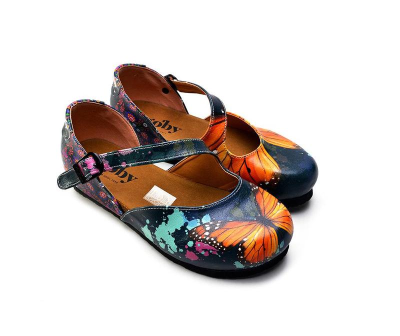 Ženski zaprti sandali Butterfly 36