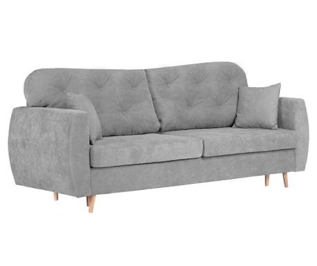 Orchid Grey Háromszemélyes kihúzható kanapé