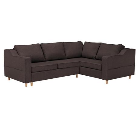 Разтегателен десен ъглов диван Jonquille Chocolate
