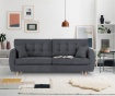 Canapea extensibila 3 locuri Amsterdam Dark Grey