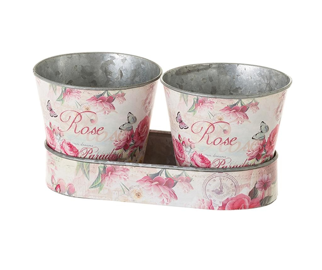 Rose 2 db Virágcserép tartóval