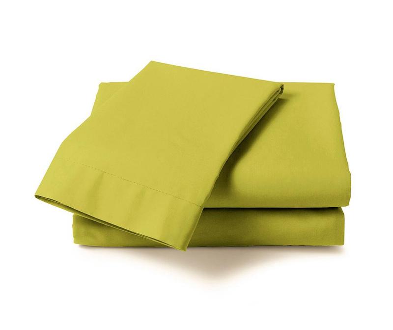 Cearsaf de pat Percale Green Oasis 160x260 cm