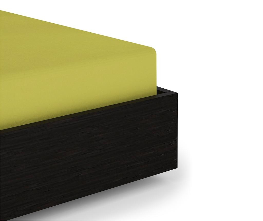 Cearsaf de pat cu elastic Percale Green Oasis 180x200 cm