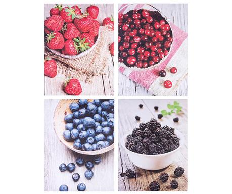 Set 4 tablouri Fruits 30x40 cm