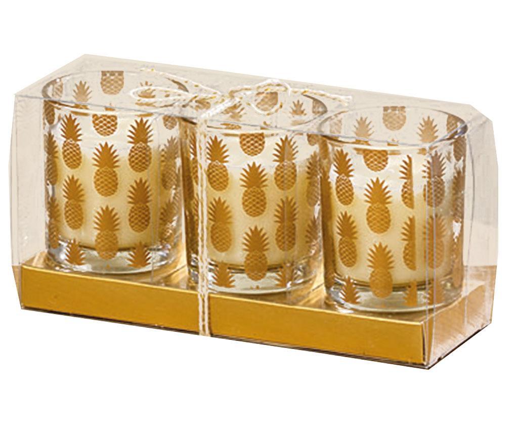 Set 3 sveč Pineapple