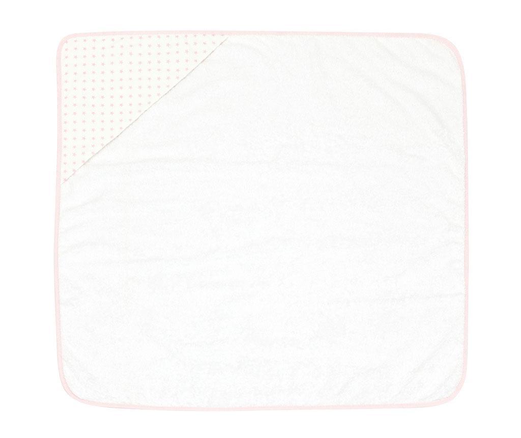 Kopalna brisača s kapuco Mini Star Pink 80x80 cm