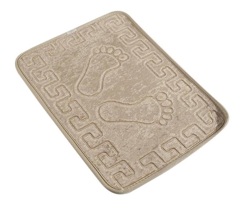 Covoras de baie Footprint Beige 40x60 cm