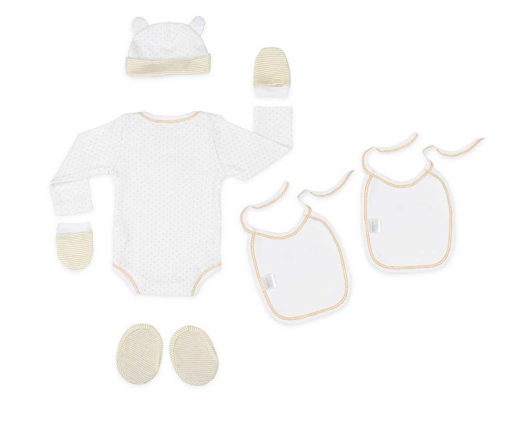 6-delni komplet za dojenčka Tres Chic Cream 0-1 mesecev