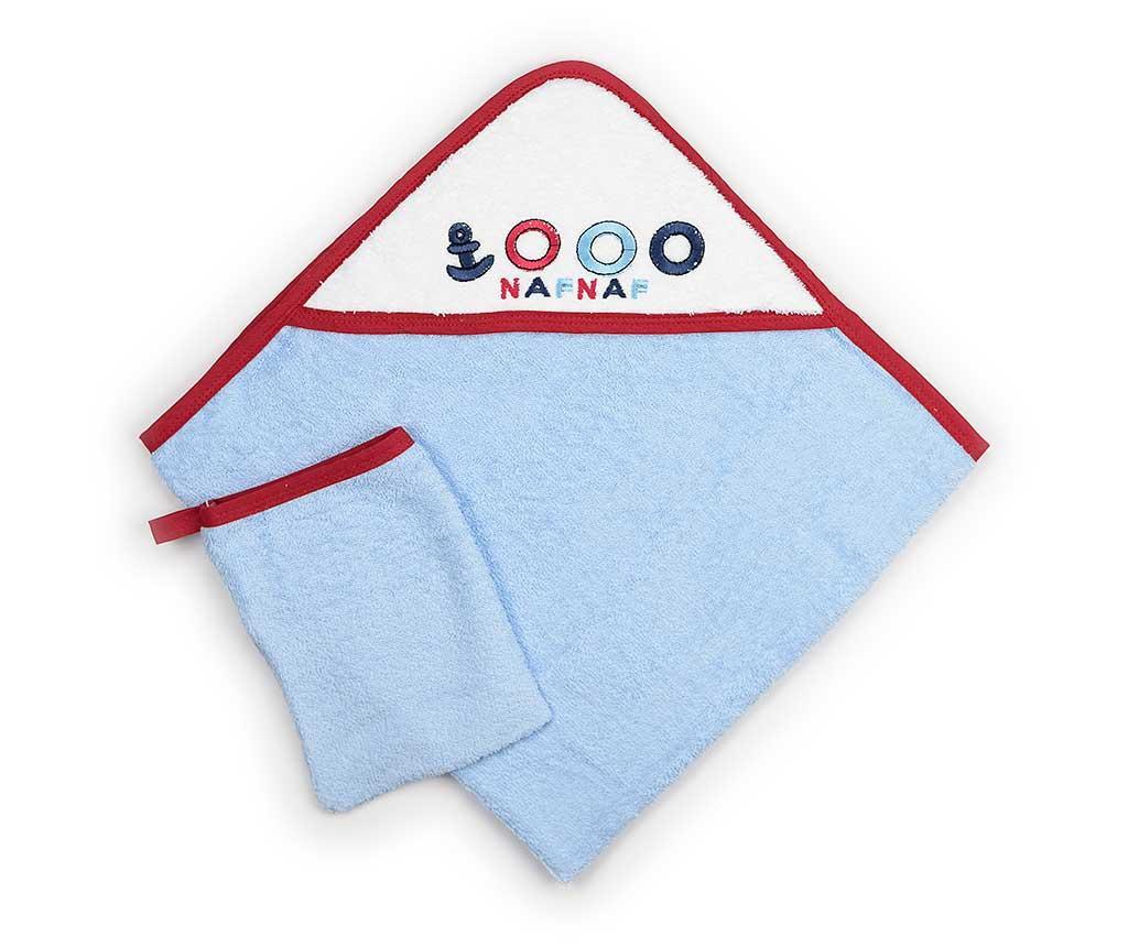 Set ručnik sa kapuljačom i rukavica za kupanje Boat