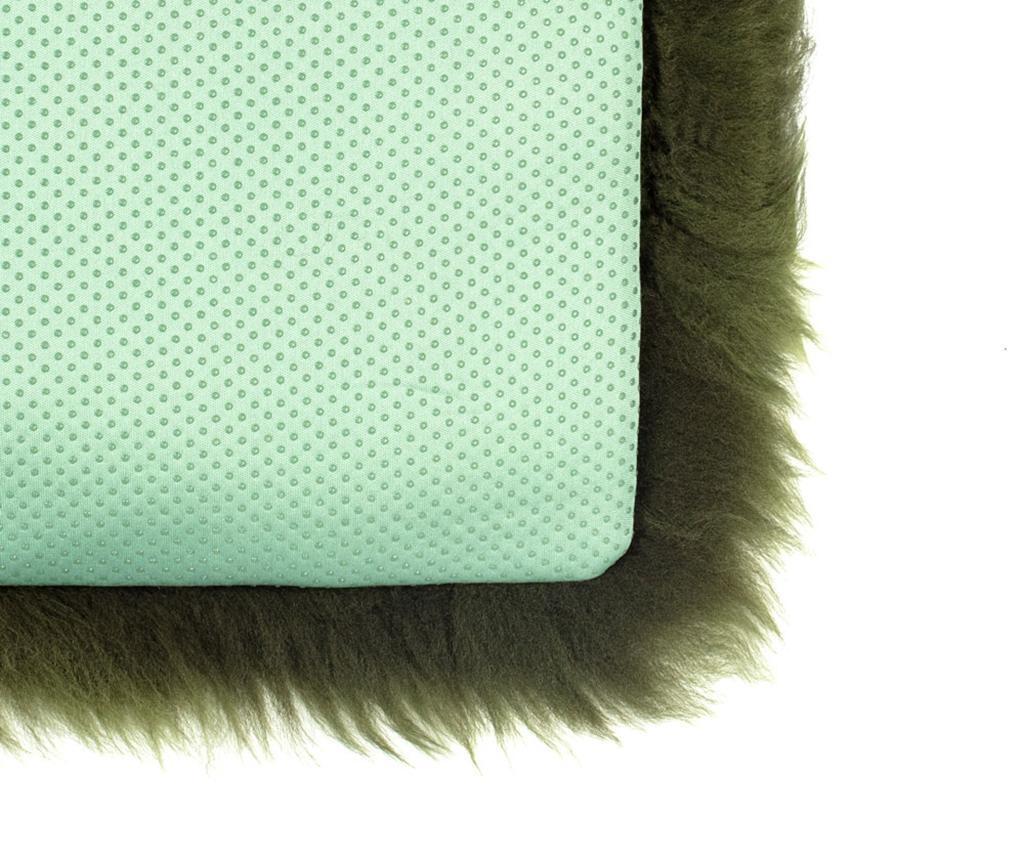 Perna de sezut Fluffy Green 40x40 cm