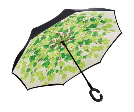 Deštník Green Leaves Reversible