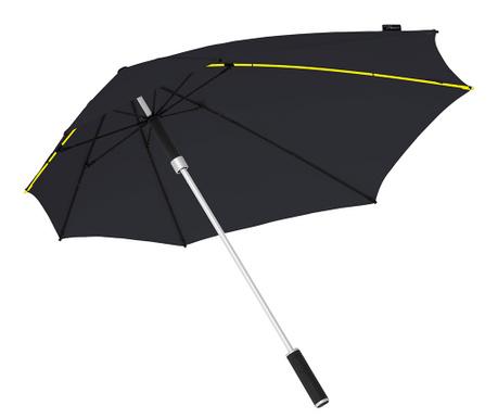 Deštník Aerodynamic Stormproof Black