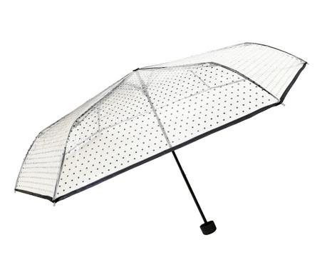 Teleskopický deštník Ultra Black Polka Dots