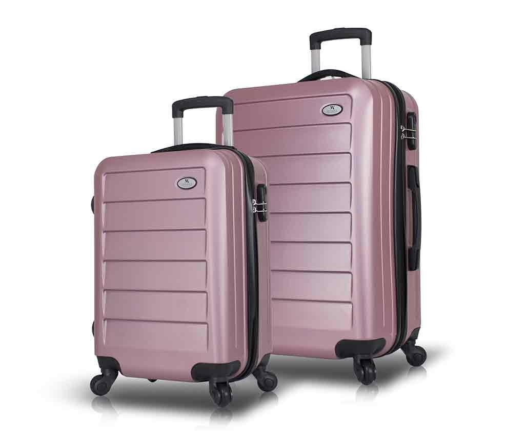 Iuki Rose Gold 2 db Gurulós bőrönd