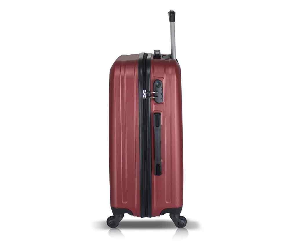 Iuki Wide Claret Red 2 db Gurulós bőrönd