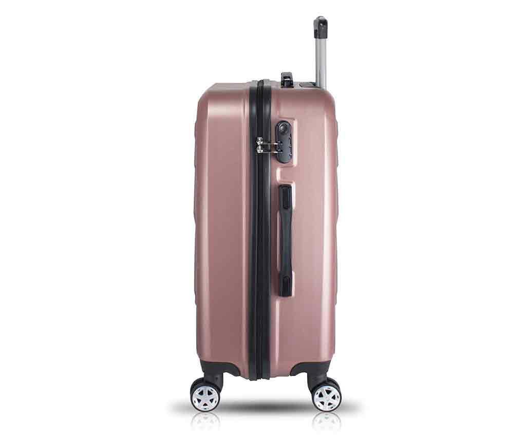 Alice Wide Rose Gold 2 db Gurulós bőrönd