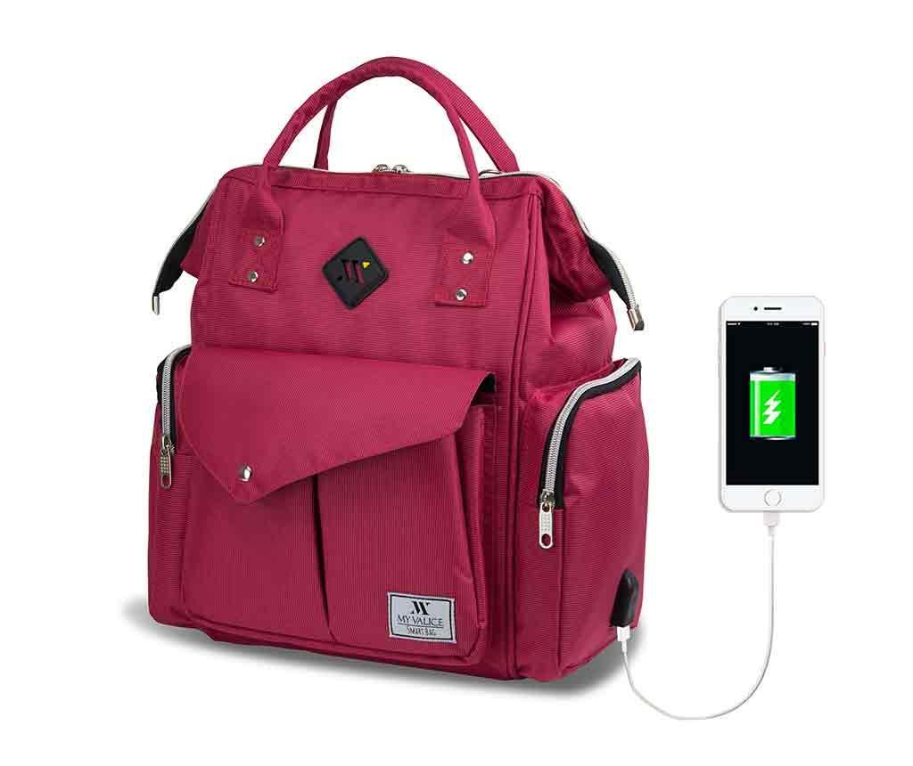 Чанта за памперси USB Barry Pink