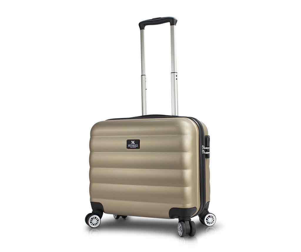 USB Little Lara Gold Gurulós bőrönd