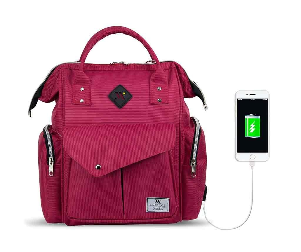Torba za plenice USB Barry Pink