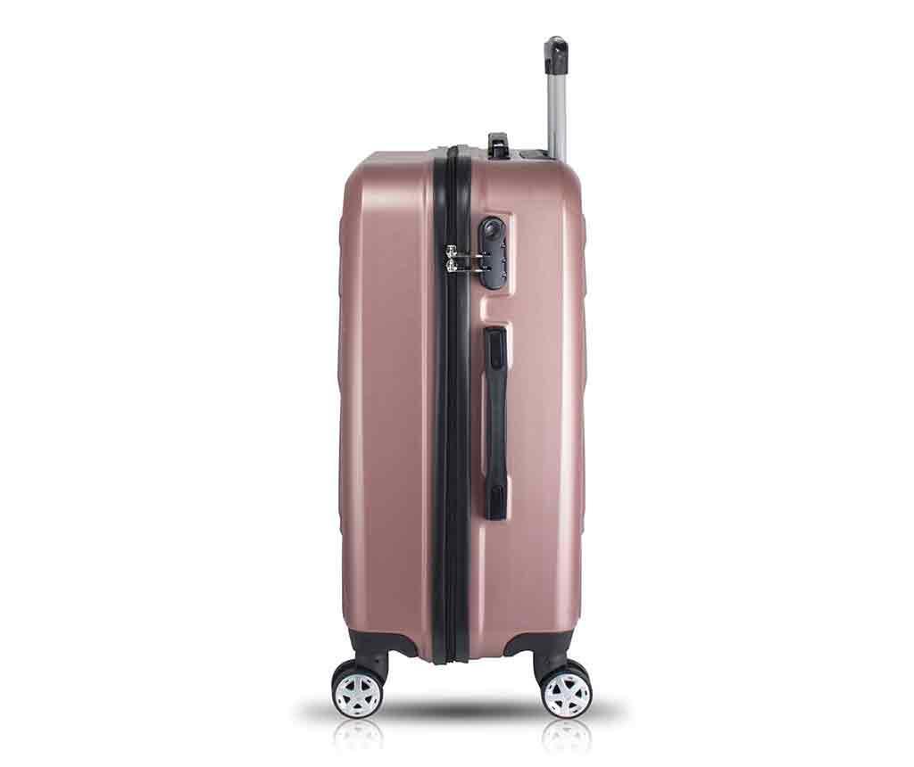 Set 2 putne torbe s kotačićima i kozmetička torba Alice Rose Gold