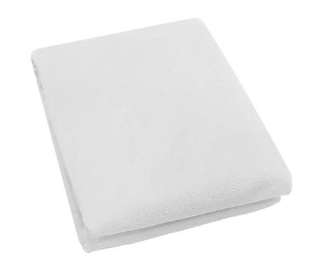 Prześcieradło do łóżeczka z gumką Rosa Fitty White 65x128 cm