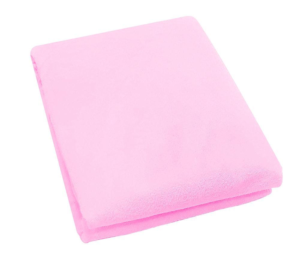 Cearsaf de patut cu elastic Rosa Fitty Pink 65x128 cm