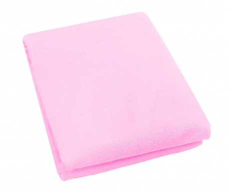 Plahta za krevetić s elastičnom gumicom Rosa Fitty Pink 65x128 cm