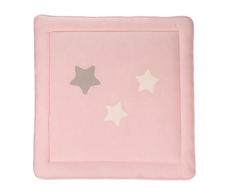 Dywan do zabaw Stars Pink 100x100 cm