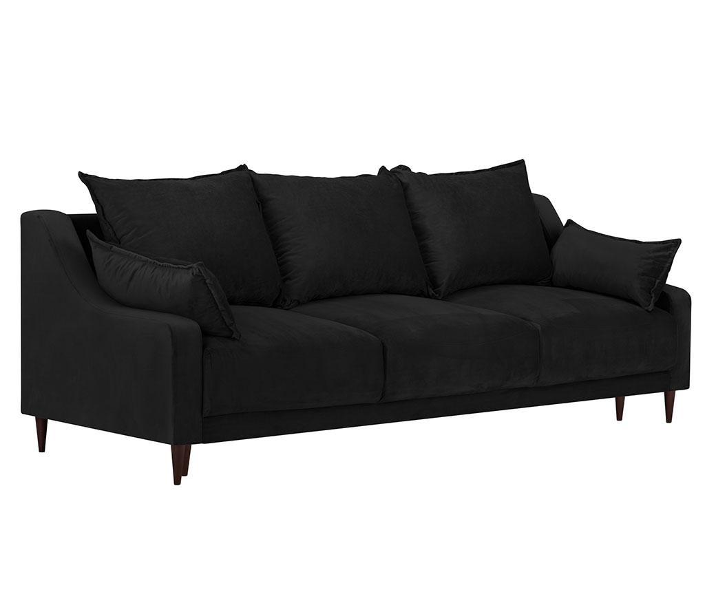 Canapea extensibila cu 3 locuri Freesia Black