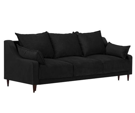Freesia Black Háromszemélyes kihúzható kanapé