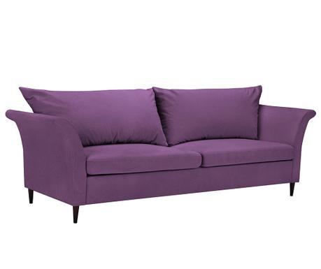 Peony Purple Háromszemélyes kihúzható kanapé
