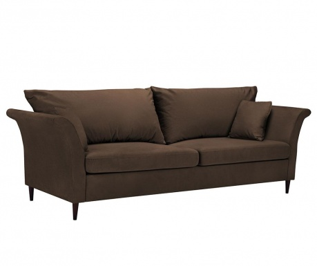 Pivoine Brown Háromszemélyes kihúzható kanapé
