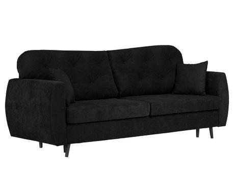 Popy Black Háromszemélyes kihúzható kanapé