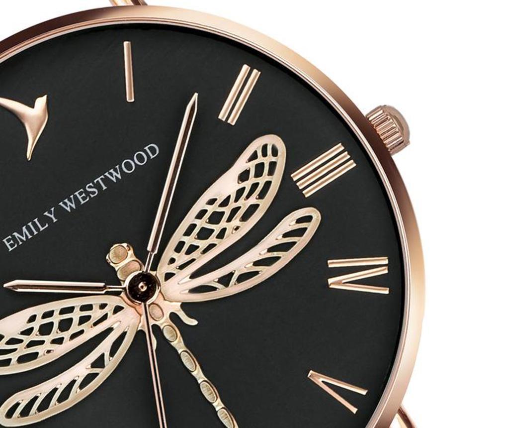 Ženski ručni sat Emily Westwood Dragonfly Rose Black