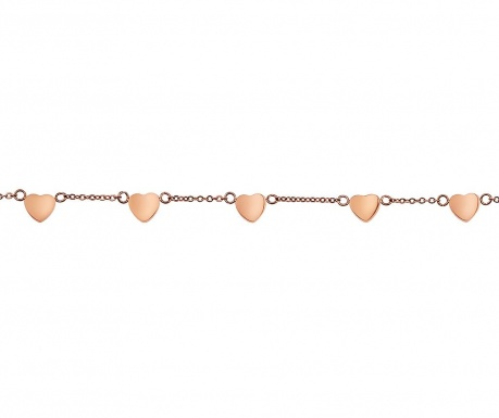 Multi Heart Rose Gold Karkötő