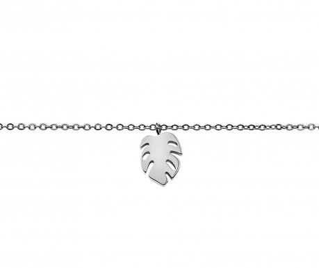 Αλυσίδα χεριού Leaf Silver