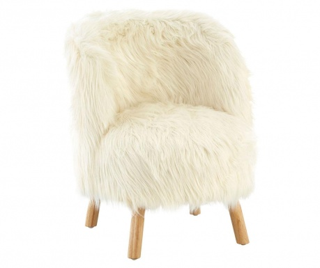 Детски стол Faux White