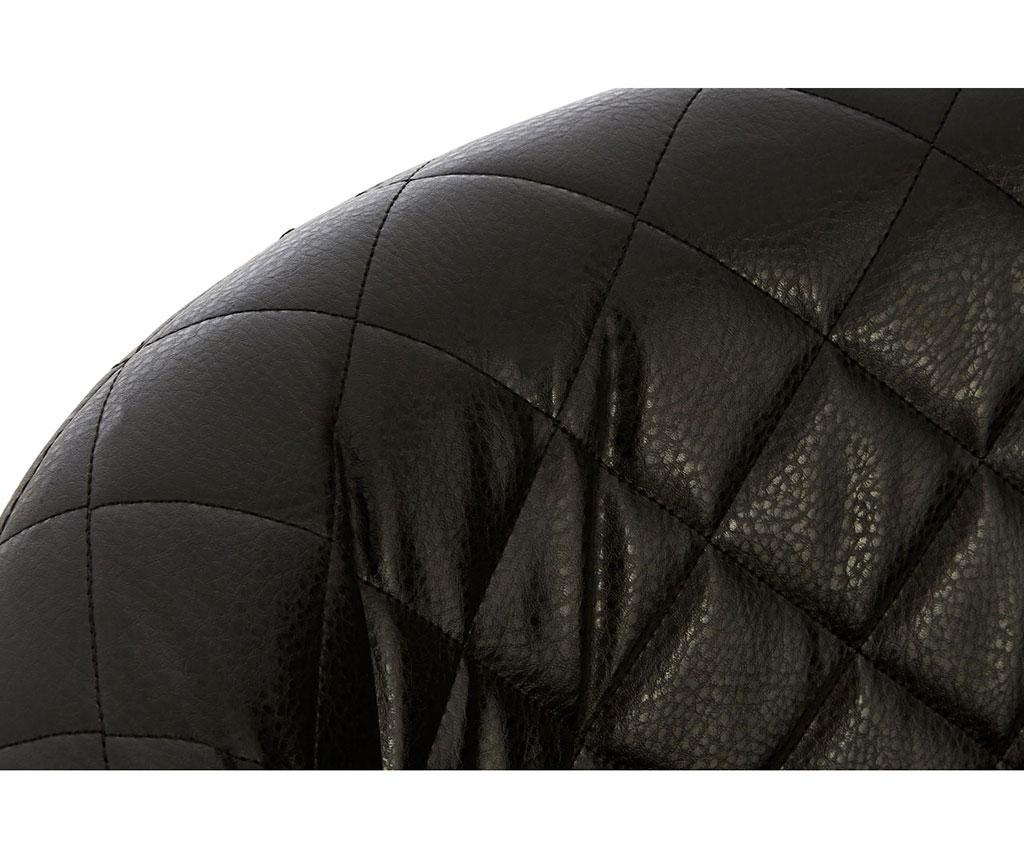 Stolica Wingback Black