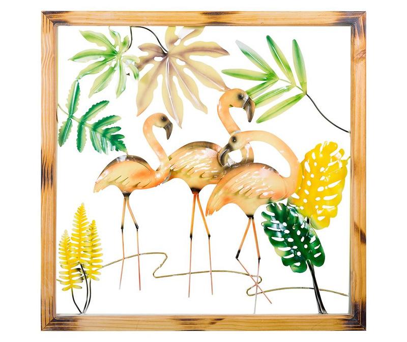 Decoratiune de perete Flamingos Orange