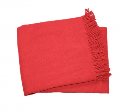 Pled Basics Plain Red 140x180 cm