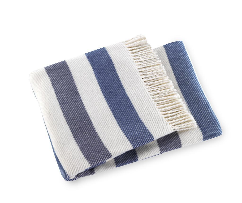 Sweet Stripe Night Blue Pléd 140x180 cm