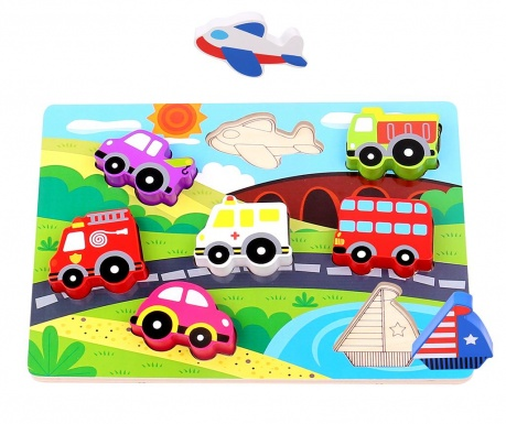 Joc tip puzzle 7 piese Chunky Puzzle  Transportation