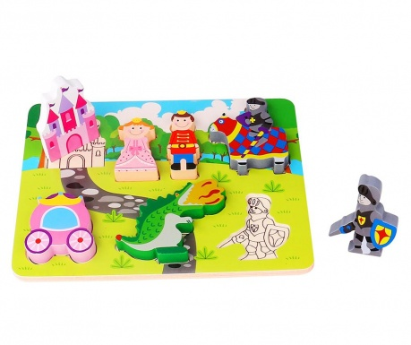 Joc tip puzzle 7 piese Chunky Puzzle  Princess & Knight