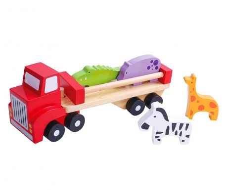 Autić igračka 5 dijelova Animal Truck