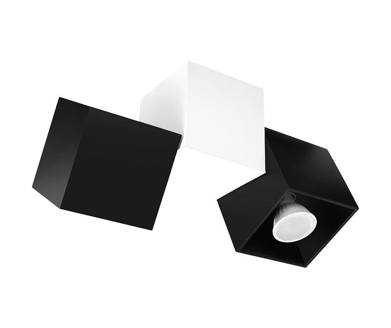 Stropna svetilka Lentes Three Black
