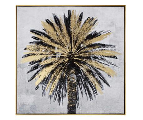 Palm Piet Black Gold Kép 80x80 cm