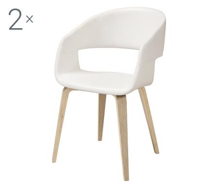 Set 2 stolice Nova White