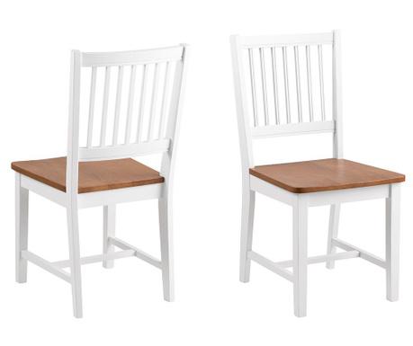 Set 2 stolice Brisbane White