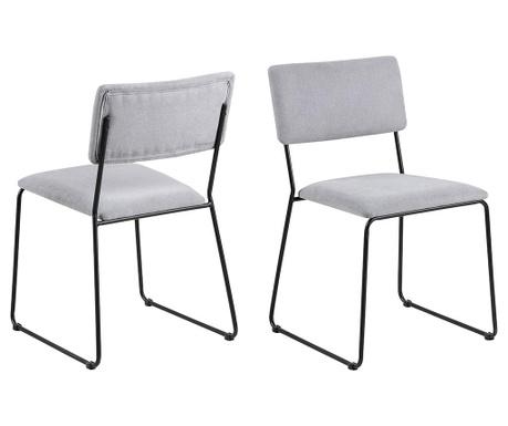 Sada 2 židlí Cornelia Grey