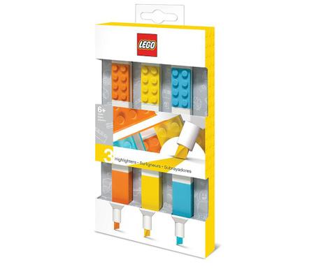 Set 3 raznobojna markera Lego Highlighter